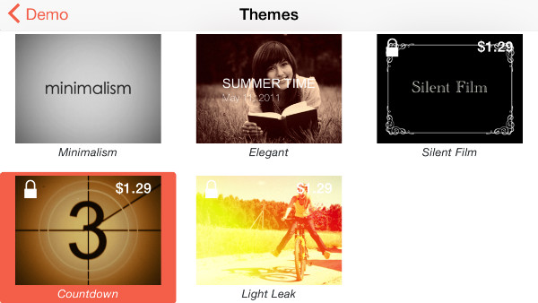 Themes can be previewed before being applied or purchased