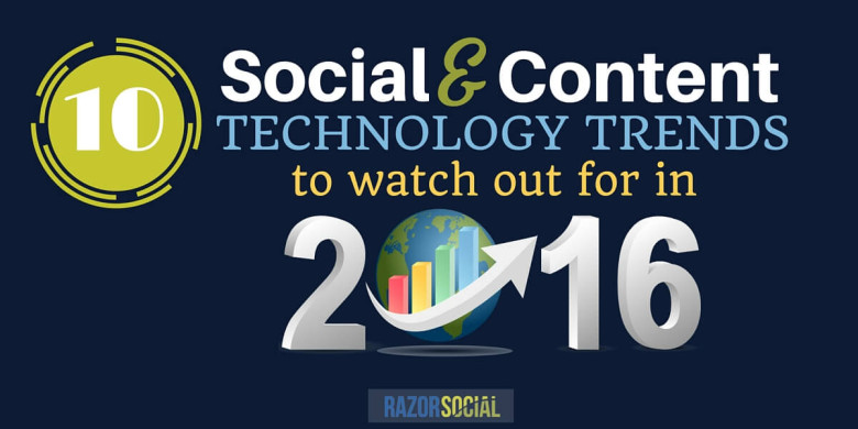10 Social and Content Marketing Technology Trends to Watch out for in 2016