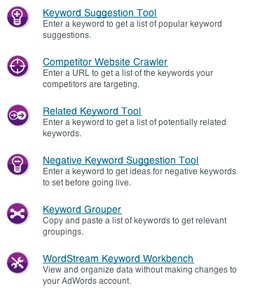 Wordstream tools