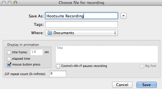 Hootsuite animated recording