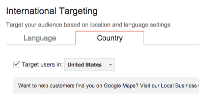 International targeting