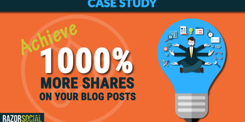 Achieve 1,000% more shares on a blog post – Case Study