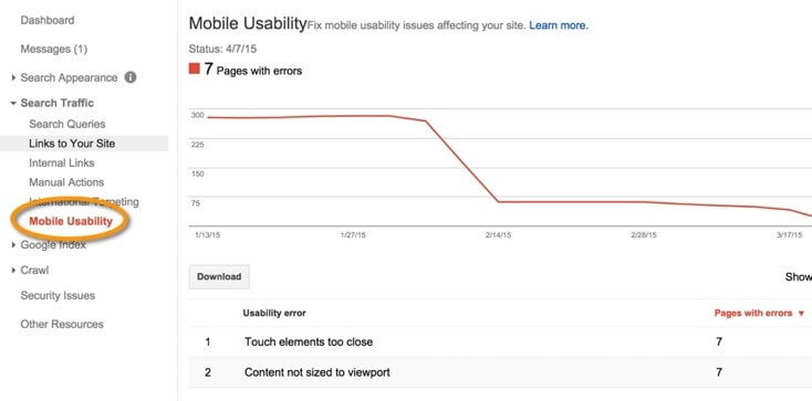 Google webmaster tools errors