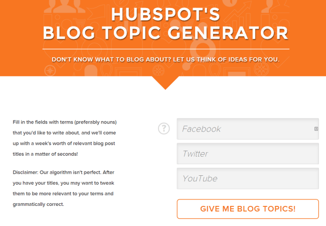 Generate a week's worth of blog topic ideas