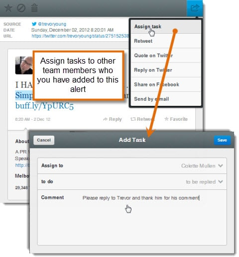 Mention App Assign Tasks