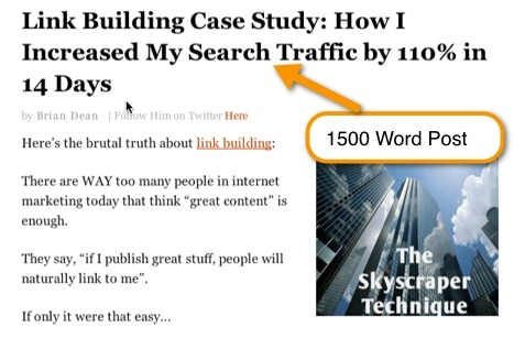 Link Building Post - blog promotion