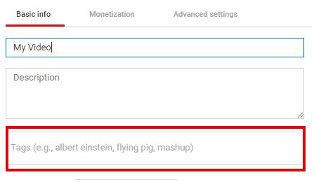Manage Tags Youtube