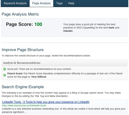 Best WordPress SEO Plugins - Scribe Page Analysis