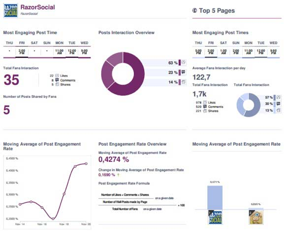 SocialBakers example report