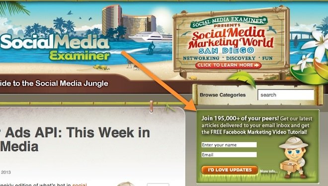 Social media examiner email subscribers