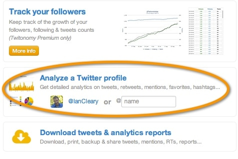Twitonomy analyze account