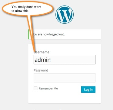 Wordpress Admin user