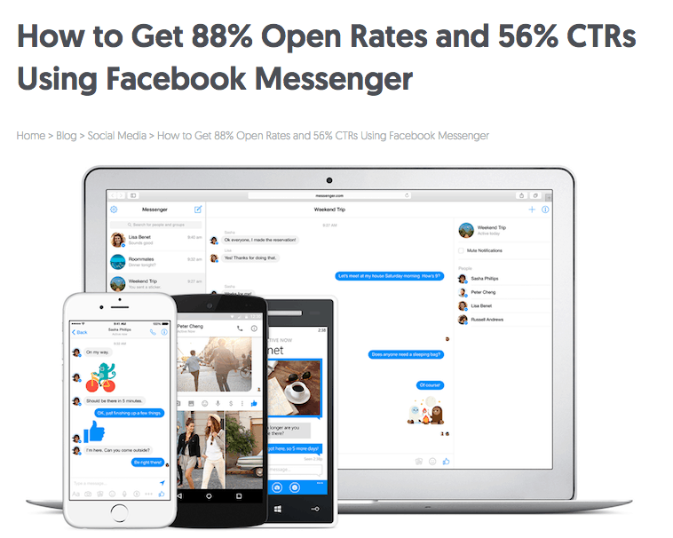 chatbot - facebook messenger