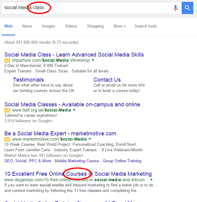 understanding the context of search terms