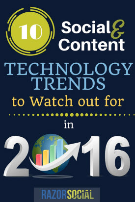 10 Social and Content Technology Trends for 2016