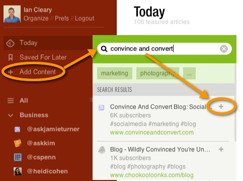 Feedly Adding Subscriptions