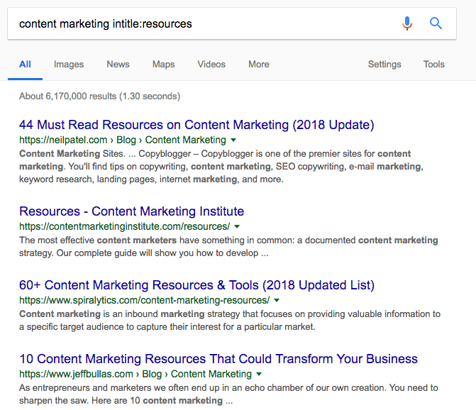 intitle resources - 6 Outbound Marketing Tactics to Drive More Valuable Traffic to Your Website