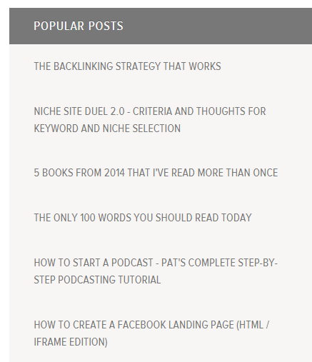 Have a list of your best posts to refer people to