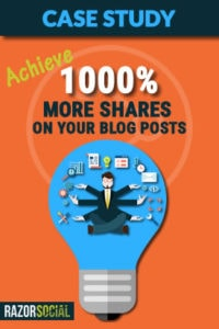 Achieve 1000% more shares on a blog post