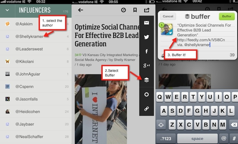 Feedly and Buffer Integration
