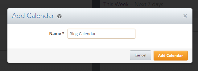 Insert the name of your editorial calendar