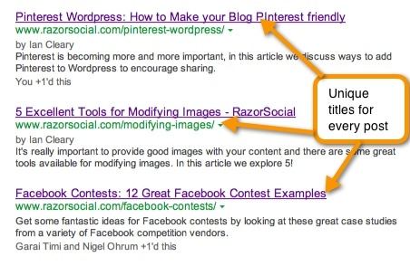 Optimized page titles
