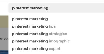 Search for Pinterest marketing